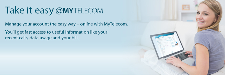 Welcome to MyTelecom - register now